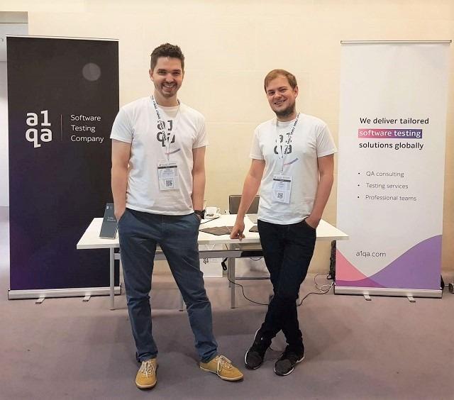 The a1qa representatives at NSTC London