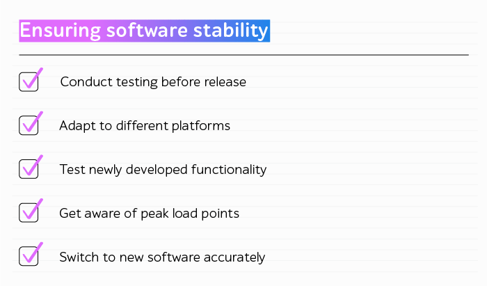 Providing software stability