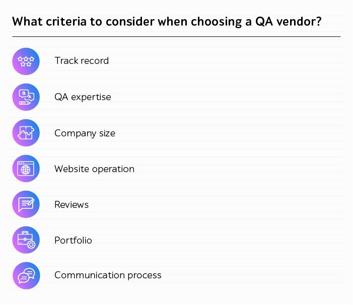 How choose a QA vendor