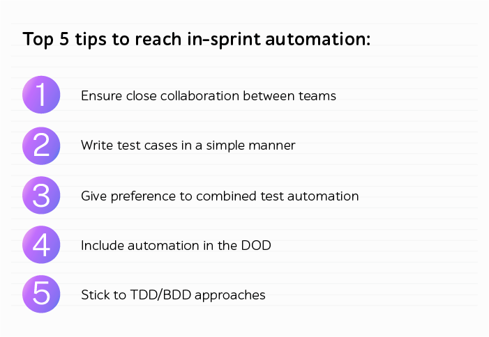 5 tips to reach in-sprint automation